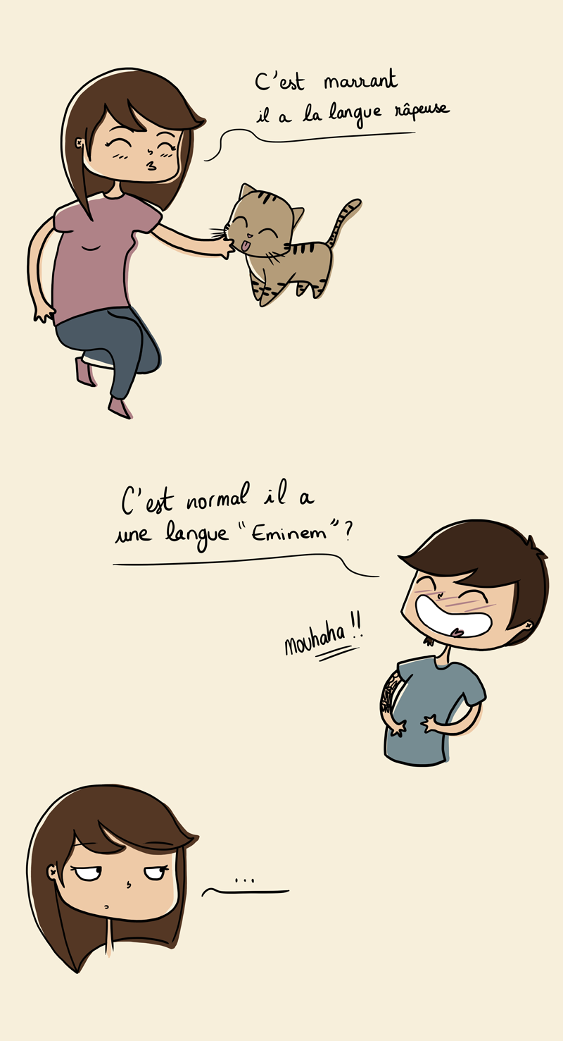 blague, blague chat, humour, blog illustratrice, leticia illustratrice, illustratrice freelance