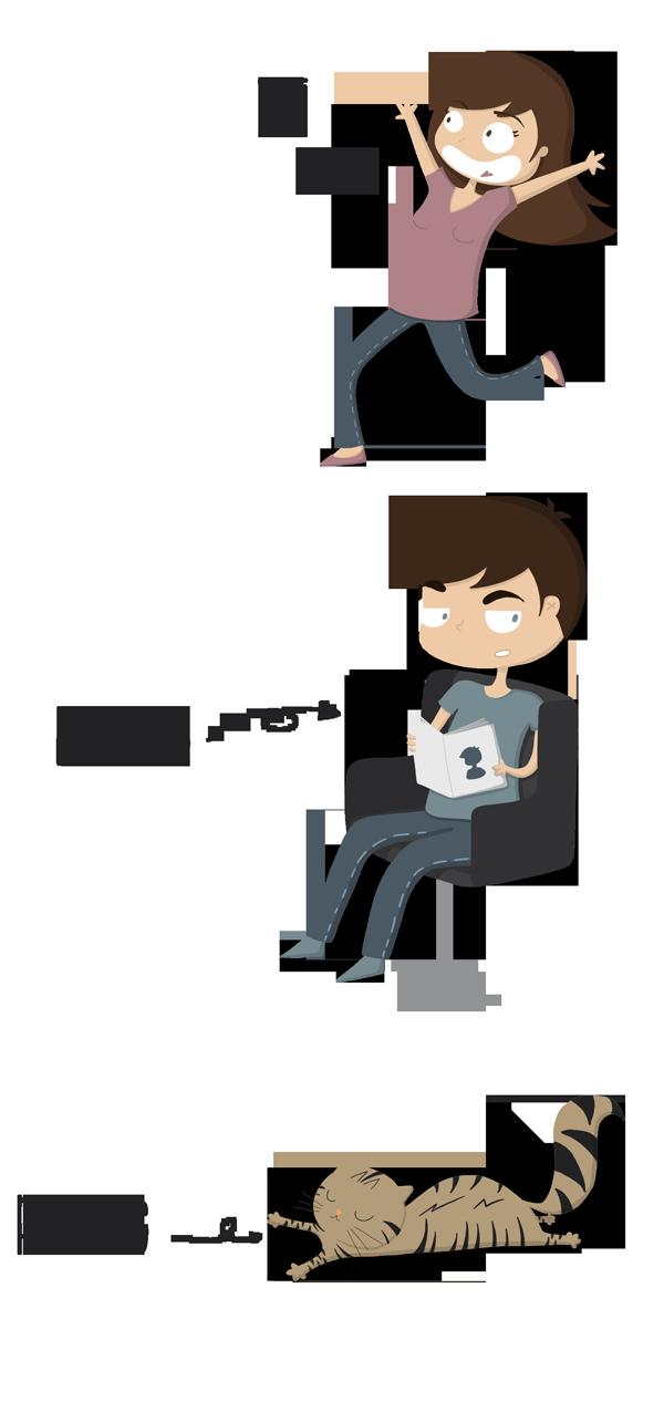 présentation personnage, chat, l'homme, illustratrice freelance, leticia, leticia illustratrice, pantone, pantone le chat
