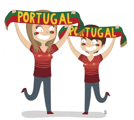 força portugal, supportrice portugal, coupe du monde 2014