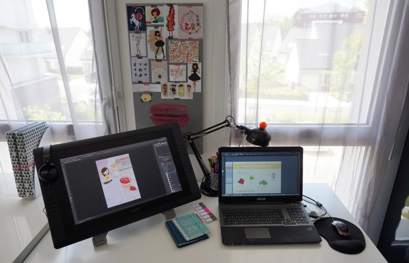 mon bureau et comment je travaille leticia illustratrice freelance. Black Bedroom Furniture Sets. Home Design Ideas