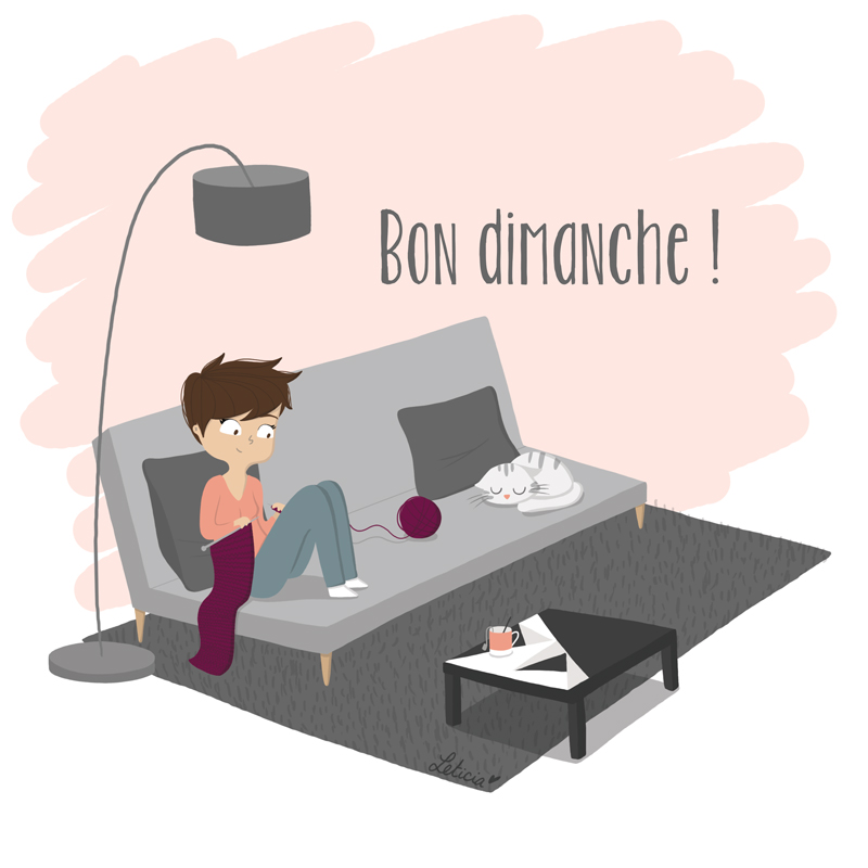 Bon dimanche, illustration week-end