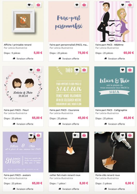 boutique en ligne, faire-part PACS