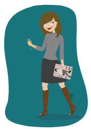 illustration féminine, illustration, working girl, bonne année