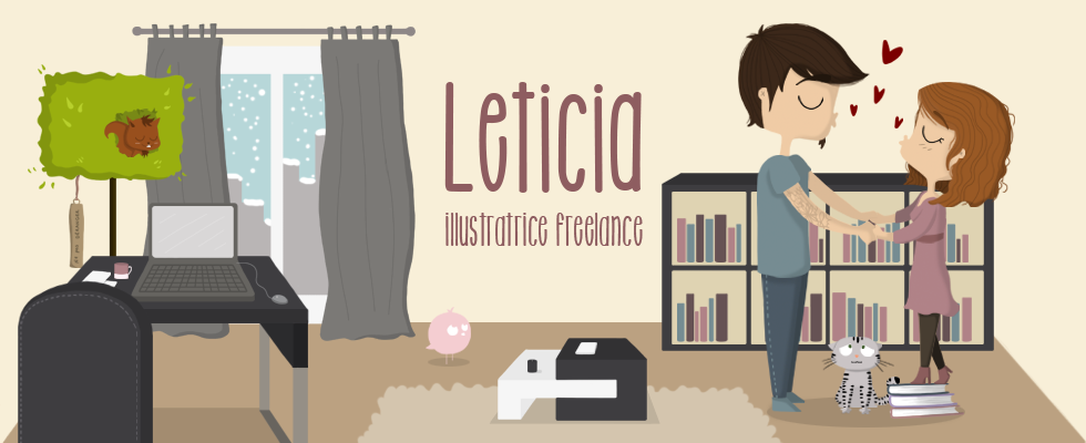 Leticia, illustratrice freelance