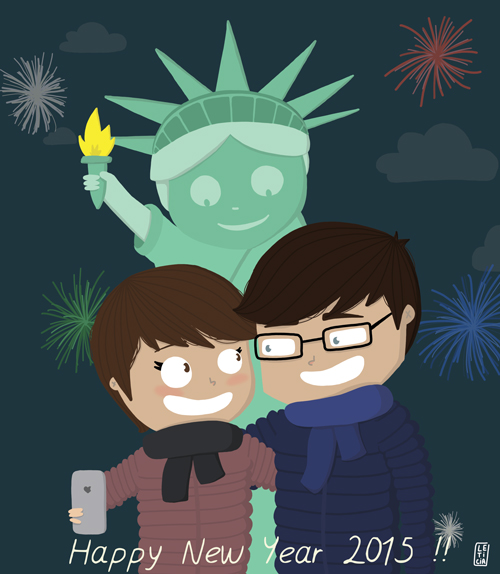Happy new year 2015, nouvel an New York