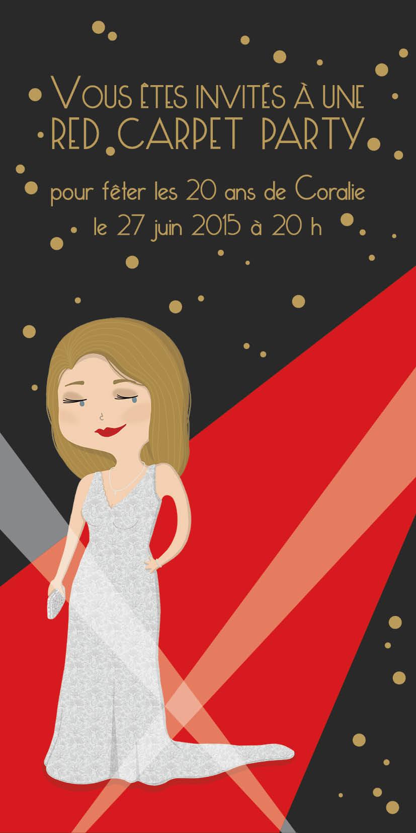 invitation red carpet